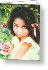 Innocence Greeting Card by Mo T