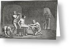 Inside An Egyptian Bathhouse, C.1820s Greeting Card by Dominique Vivant Denon