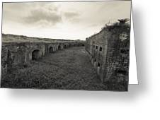 Inside Fort Macomb Greeting Card by David Morefield