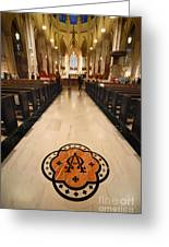 Inside St Patricks Cathedral New York City Greeting Card by Amy Cicconi
