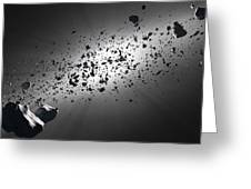 Inside The Asteroid Belt Against The Sun Greeting Card by Johan Swanepoel