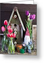 Inside The Garden Shed Greeting Card by Edward Fielding