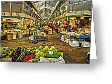 Inside The Gyeongdong Market At Seoul Greeting Card by Tony Crehan