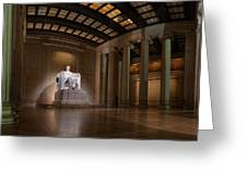 Inside The Lincoln Memorial Greeting Card by Metro DC Photography