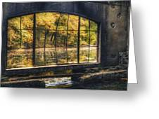 Inside The Old Spring House Greeting Card by Scott Norris