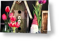 Inside the Potting Shed Greeting Card by Edward Fielding