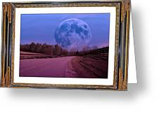 Inspiration in the Night Greeting Card by Betsy C  Knapp