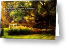 Inspirational - Prosperity - Job 36-11 Greeting Card by Mike Savad