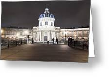 Institut De France - Parisian Night Scene Greeting Card by Mark Tisdale