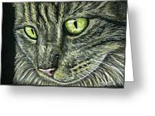 Intense Greeting Card by Michelle Wrighton
