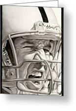 Intensity Peyton Manning Greeting Card by Tamir Barkan