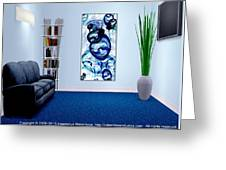 Interior Design Idea - Immiscible Greeting Card by Anastasiya Malakhova