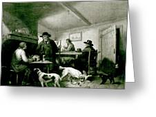 Interior Of A Country Inn Greeting Card by George Morland