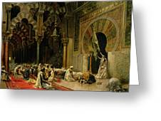 Interior Of The Mosque At Cordoba Greeting Card by Edwin Lord Weeks