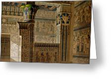 Interior View Of The West Temple Greeting Card by Le Pere