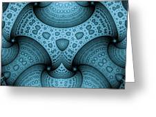 Interlocking Patterns Greeting Card by Mark Eggleston