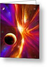 Intersteller Supernova Greeting Card by James Christopher Hill