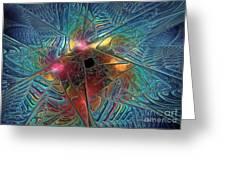 INto The Galaxy Greeting Card by Deborah Benoit