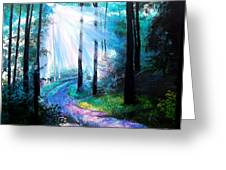 Into The Light. Greeting Card by Jennifer  Blenkinsopp