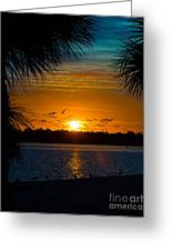 Into The Sunset Greeting Card by Anne Kitzman