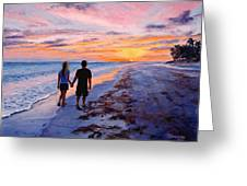 Into The Sunset Greeting Card by Mary Giacomini