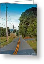 Into Town Greeting Card by Skip Willits