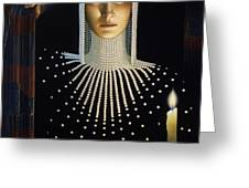 Intrique Greeting Card by Jane Whiting Chrzanoska