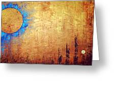 Invisible Blue Sun Greeting Card by Sharon Cummings