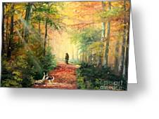 Invitation To Walk Greeting Card by Sorin Apostolescu