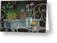 Irises Greeting Card by Michael Humphries