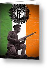 Irish 1916 Volunteer Greeting Card by David Doyle