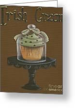 Irish Cream Cupcake Greeting Card by Catherine Holman