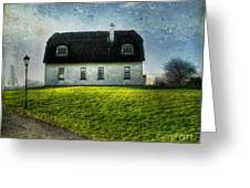 Irish Thatched Roofed Home Greeting Card by Juli Scalzi