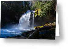 Iron Creek Falls Greeting Card by Roger Reeves  and Terrie Heslop