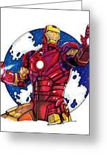 Iron Man Greeting Card by Dave Olsen
