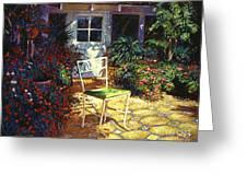 Iron Patio Chair Greeting Card by David Lloyd Glover