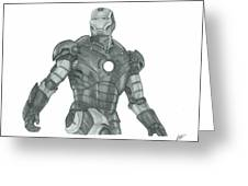 Ironman Greeting Card by Rich Colvin