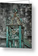 Ironwork In The Quarter Greeting Card by Brenda Bryant