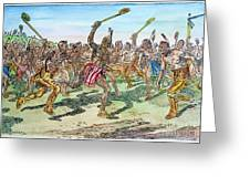 Iroquois - Lacrosse. Greeting Card by Granger