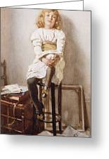 Is It Time Greeting Card by John Henry Henshall