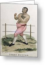 Isaac Bitton, Engraved By P. Roberts Greeting Card by Isaac Robert Cruikshank