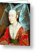 Isabella Of Portugal 1397-1471 Greeting Card by Li   van Saathoff