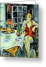 Isabelle From Paris -    Greeting Card by Trudi Doyle
