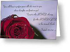 Isaiah 26 3 4 Greeting Card by Inspirational  Designs