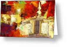 Islamic Painting 003 Greeting Card by Catf