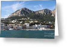 Island Capri panoramic Sea view Greeting Card by Kiril Stanchev