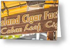 Island Cigar Factory Key West - Panoramic - HDR Style Greeting Card by Ian Monk