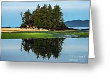 Island Reflection Greeting Card by Robert Bales