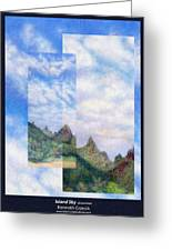 Island Sky Details Greeting Card by Kenneth Grzesik