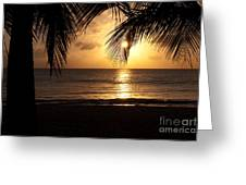 Island Sunset Greeting Card by Charles Dobbs